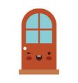 door icon colorful kawaii silhouette vector image