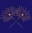double color sparkler on blue background sign 512 vector image vector image