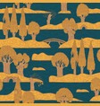 drawn seamless pattern with trees islands water vector image