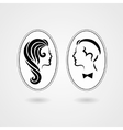 Elegant lady and gentleman symbol vector image vector image