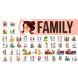 family set family members spending time vector image vector image
