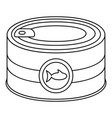 fish tin can icon outline style vector image vector image