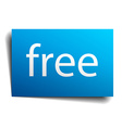 free blue paper sign on white background vector image vector image