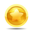 game coin with star game interface gold vector image vector image