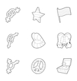 Gays and lesbians icons set outline style vector image vector image