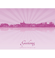 Geelong skyline in purple radiant orchid vector image vector image