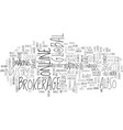 global online brokerage text background word vector image vector image