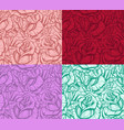 graphic realistic detailed rose seamless pattern vector image