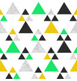 green and yellow geometric triangle background vector image
