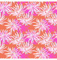 Hand drawn seamless pattern with chrysanthemum vector image