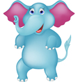 Happy elephant cartoon vector image
