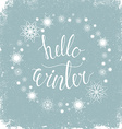 Hello winter vector image