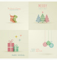 holiday cards collection vector image vector image