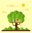 house on tree vector image vector image
