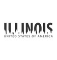 illinois usa united states of america text or vector image