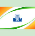 indian independence day tricolor flag background vector image