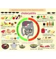 infographics proper nutrition Cholecystitis vector image