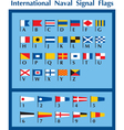 International Naval Signal Flags vector image