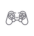 joystickgamepad line icon sign vector image vector image