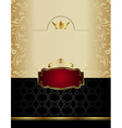 Luxury gold wine label with emblem