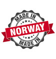 made in norway round seal vector image
