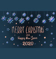 merry christmas and happy new year 2020 year blue vector image vector image