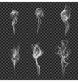 Monochrome Realistic Smoke Set vector image