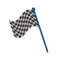 racing flag flat vector image vector image