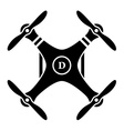 rc drone quadcopter black symbol vector image vector image