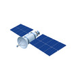 realistic 3d satellite wireless satellite vector image