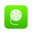 reel with film icon digital green vector image vector image