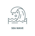 sea wave line icon linear concept outline vector image