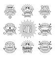 set of summer labels design linear style emblem vector image vector image