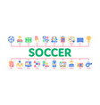 soccer football game minimal infographic banner vector image vector image