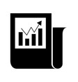 statistical report isolated icon vector image