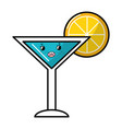 summer cocktail cartoon vector image vector image