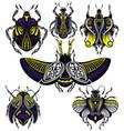 tattoo bugs vector image