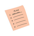 to do list planning to-do list icon flat vector image