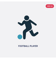 two color football player playing icon from vector image vector image