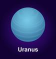 Uranus planet icon isometric style