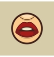 Woman Mouth with Teeth and Lips vector image vector image