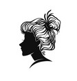 woman portrait vignette vector image