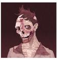 zombie portrait vector image vector image