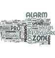 zonelabs zone alarm pro review text word cloud vector image vector image