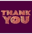 Thank you Quote lettering vector image