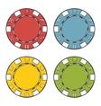 Casino chips set vector image