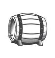 Wooden beer barrel vector image