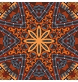 Abstract vintage ethnic seamless floral geometric vector image