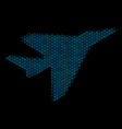 airplane intercepter mosaic icon of halftone vector image