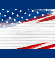 american flag paint on white wood background vector image